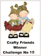 WINNER OVER AT CRAFTY FRIENDS