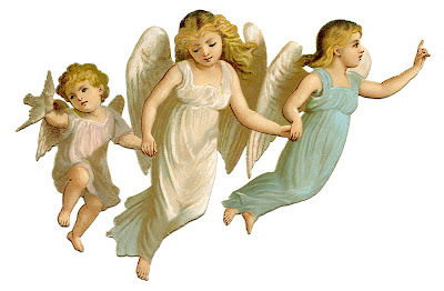 Antique Image - Angel Children