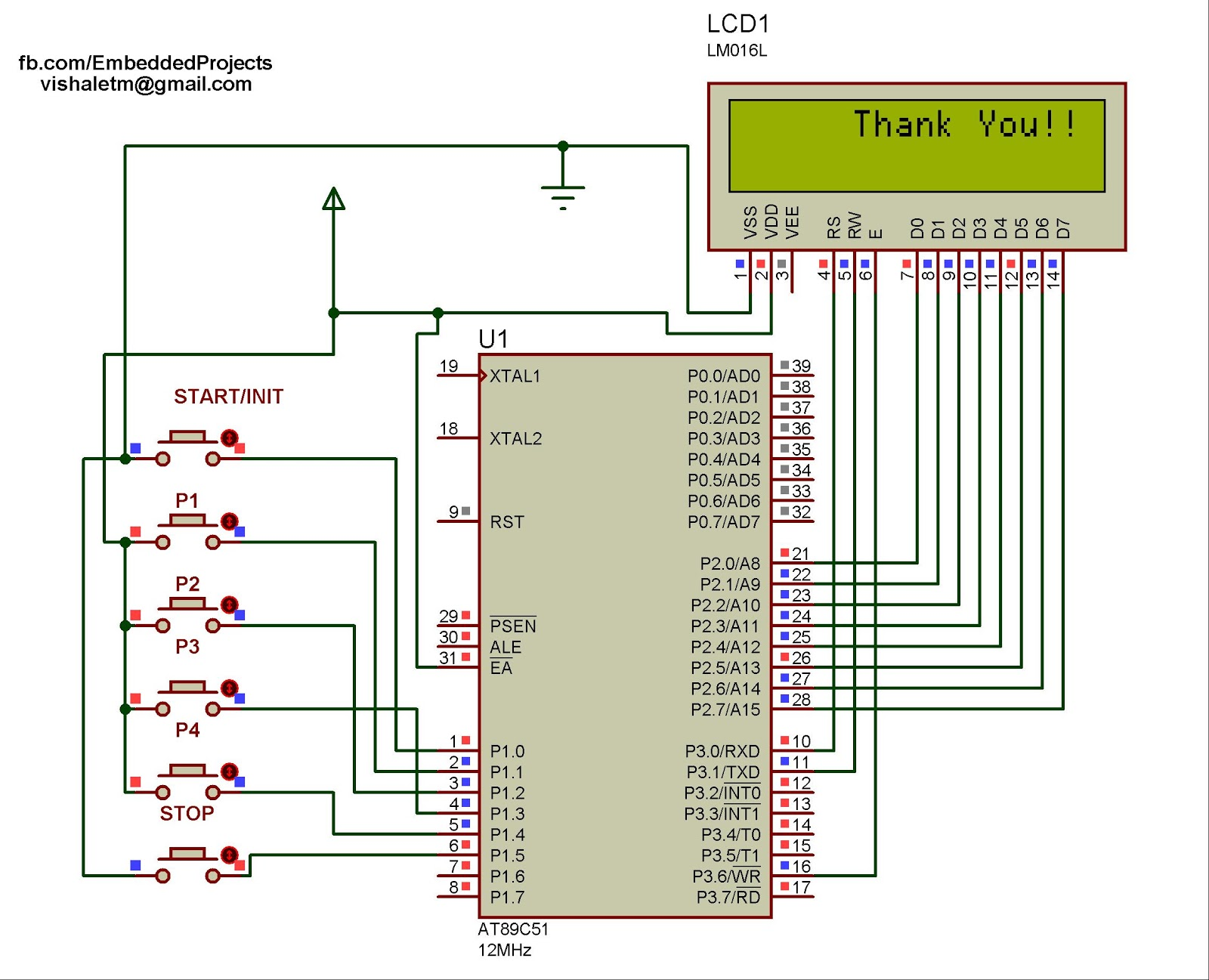 Circuit Diagram Of 89c51 Wiring Libraries Interfacing With 8051 Microcontroller Electronic Voting Machine Using At89c51internet Things Blog