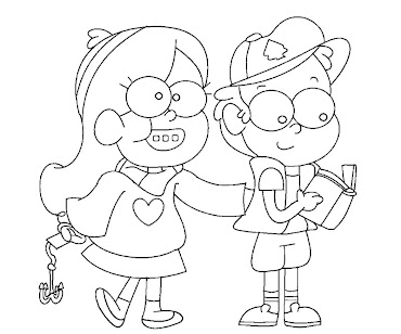 #8 Dipper Pines Coloring Page