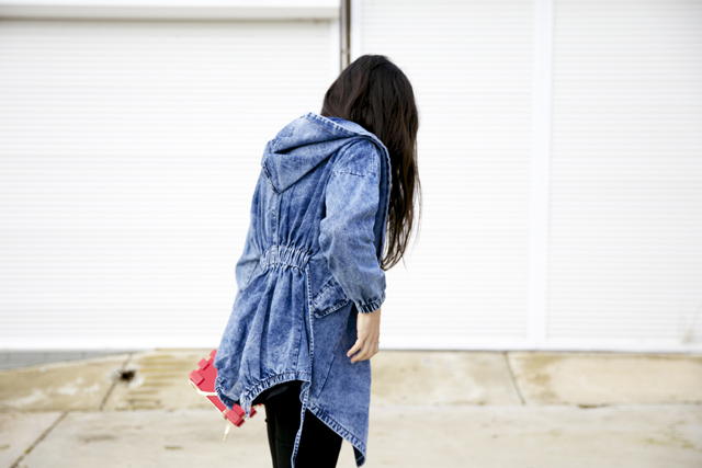 Yesfor.com denim jacket, denim parka.