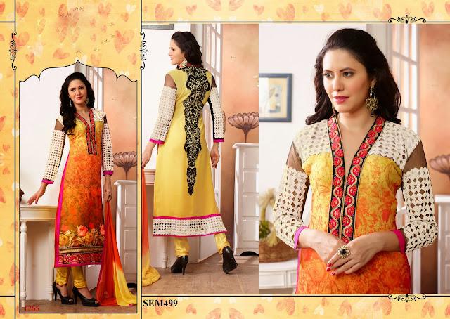 Buy Digital Print Georgette Long Salwar Kameez