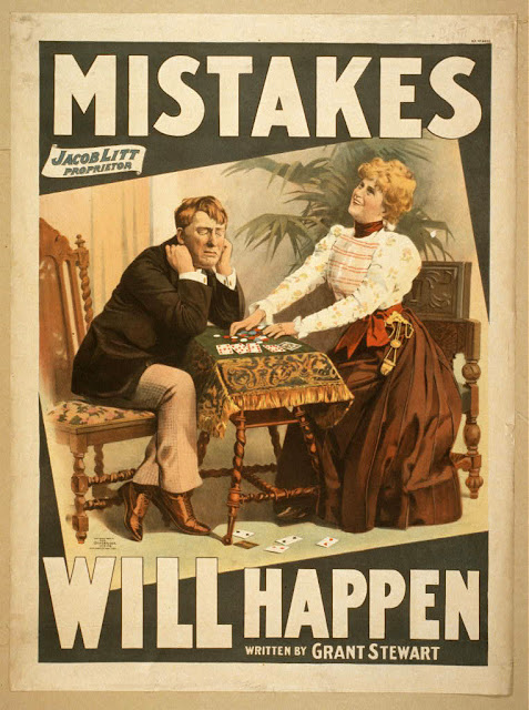 classic posters, free download, graphic design, movies, retro prints, theater, vintage, vintage posters, Mistakes Will Happen, by Grant Stewart - Vintage Theater Poster