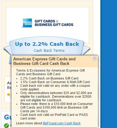 Oren s Money Saver American Express Business Gift Cards