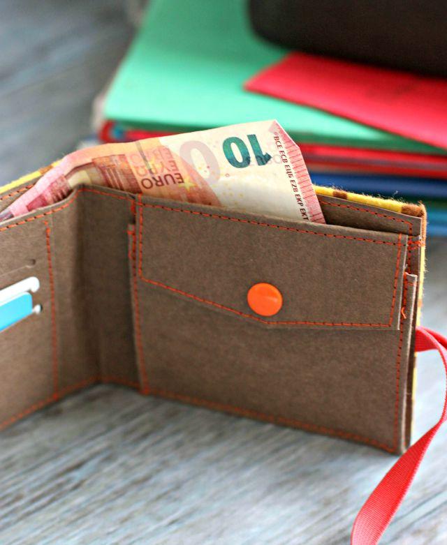 Dinge die man zum Schulanfang braucht - Geldbeutel Geldbörse aus SnapPap