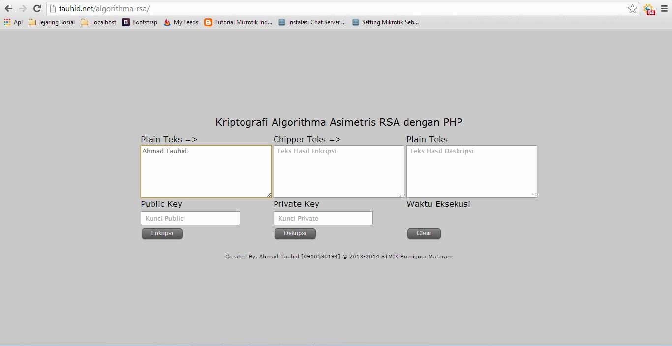 Algorithma Asimetris RSA dengan PHP