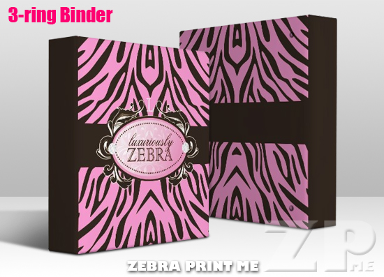 Luxuriously Pink N Brown Zebra Binder