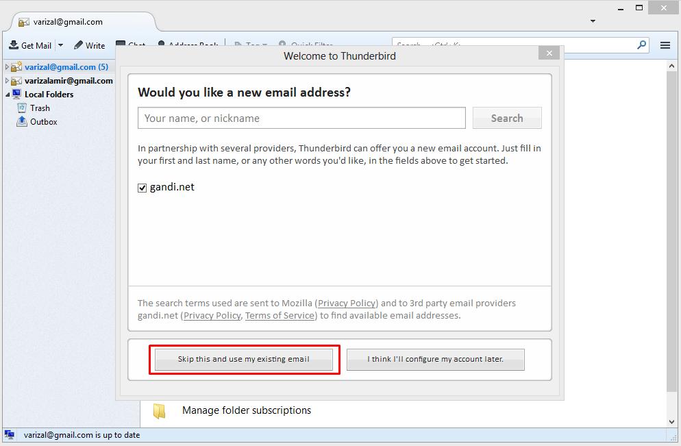 Menambahkan Beberapa Account di Mozilla Thunderbird 2