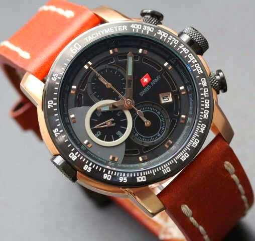 Swiss Army SA 8912 RG Original coklat