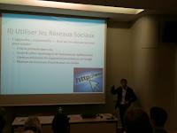 """Photo de Romain Rissoan,  conférence """"Réseaux Sociaux et Community Management"""" Eyrolles"""