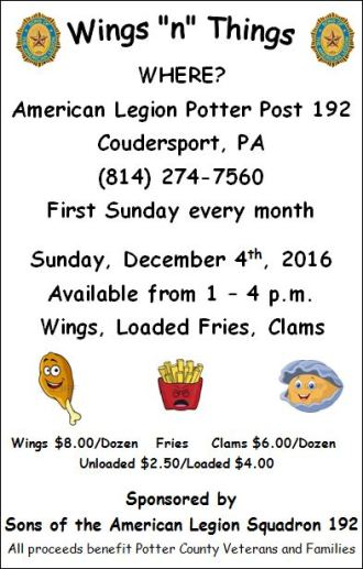 12-4 Wings & Things, Coudy Legion