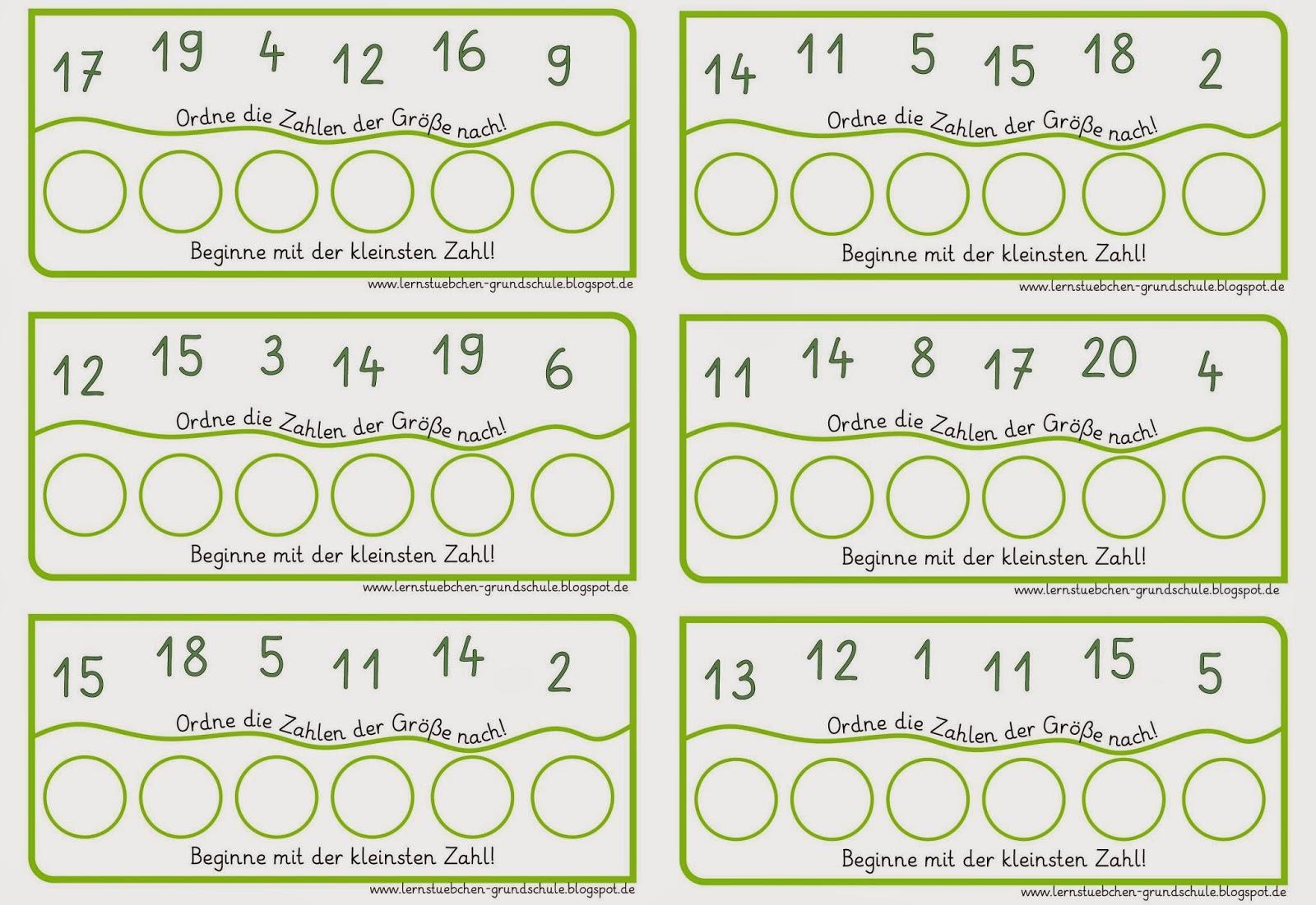 Lernstübchen: Zahlen ordnen