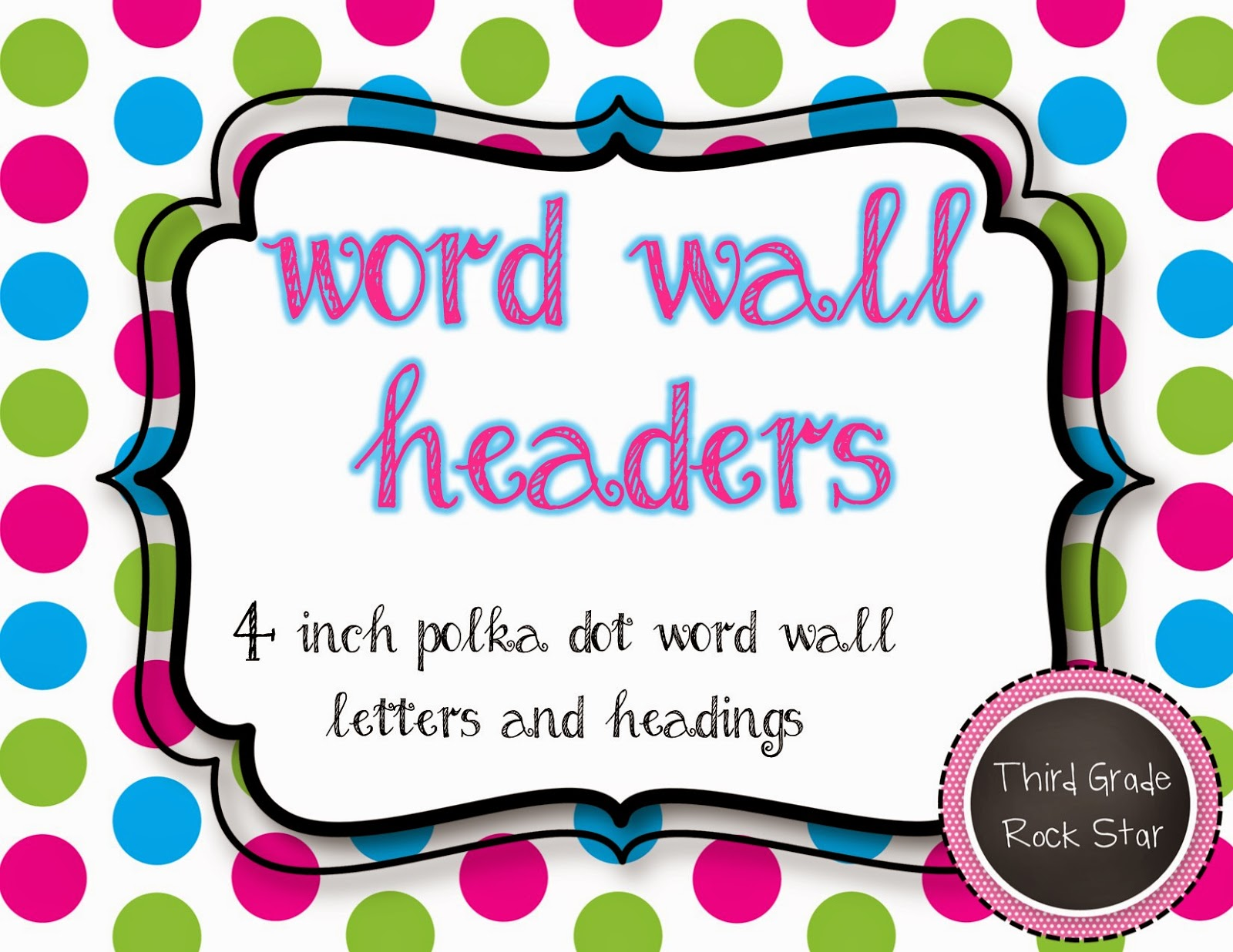 Word Wall Letters Amusing Third Grade Rock Star Tpt Tuesday Review