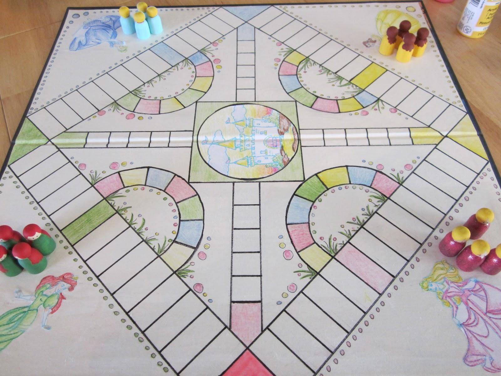crafty couple diy princess game board. Black Bedroom Furniture Sets. Home Design Ideas