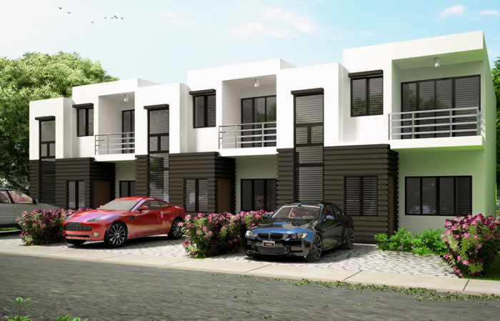 Ofw business ideas 4 doors concrete apartment at p175k for Plans for townhouses