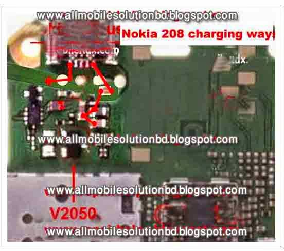 Nokia 208 charging not support,not charging