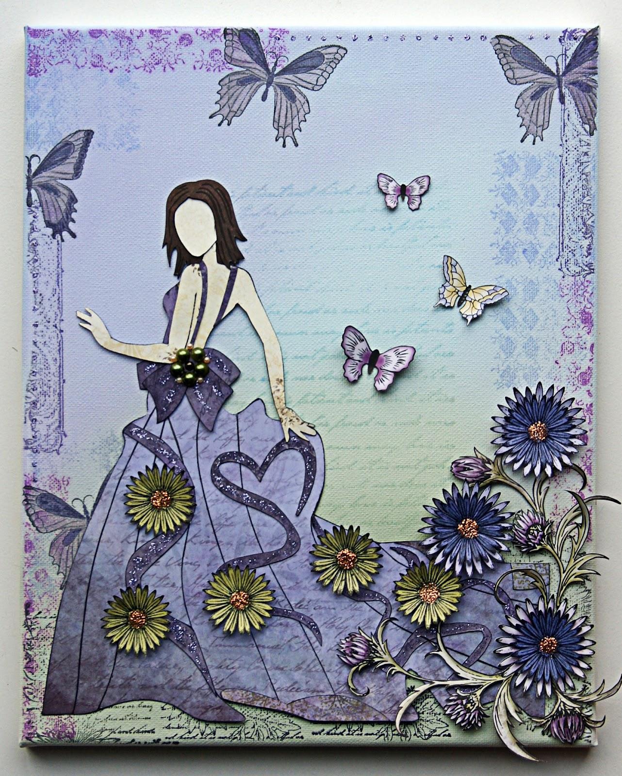 emilia van den heuvel  mixed media canvas  u0026quot spring u0026quot   dt