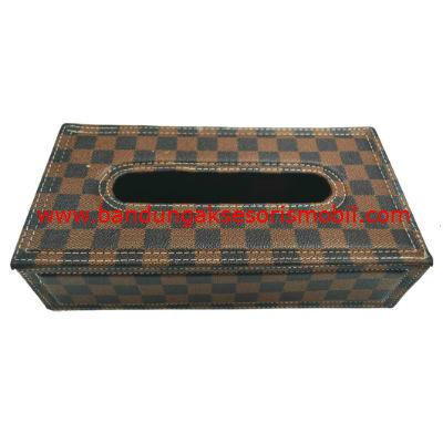 Box Tissue LV Kotak - Kotak Coklat