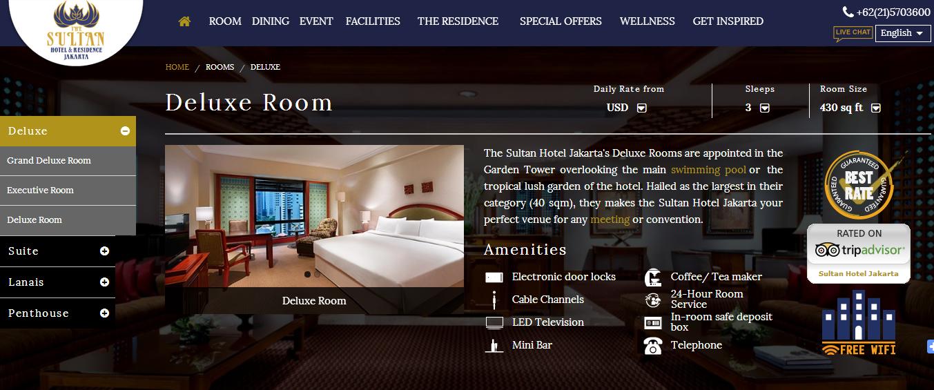 Singgasana Resort Deluxe Room