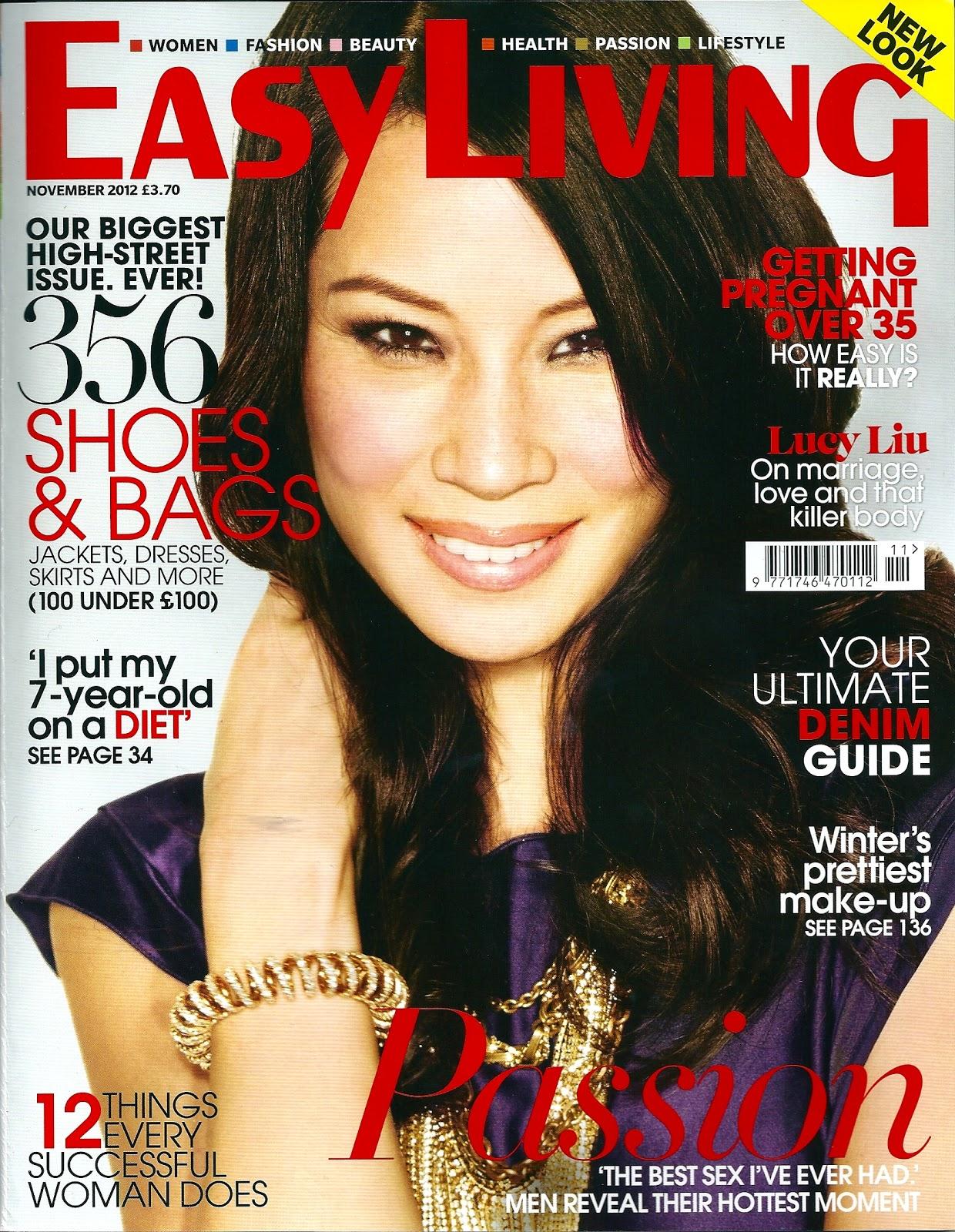 November 2012 easy living magazine alpha chunk print for Easy living