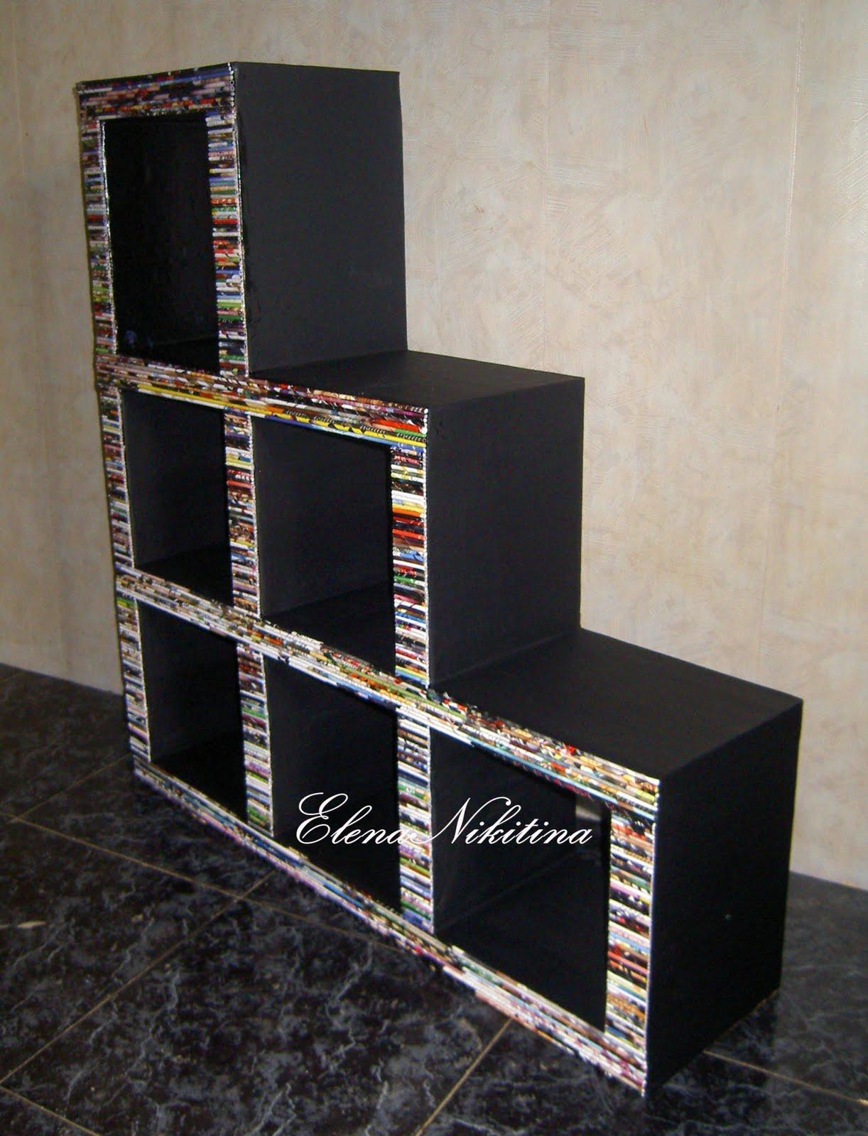 Подставка для обуви своими руками из коробок 7