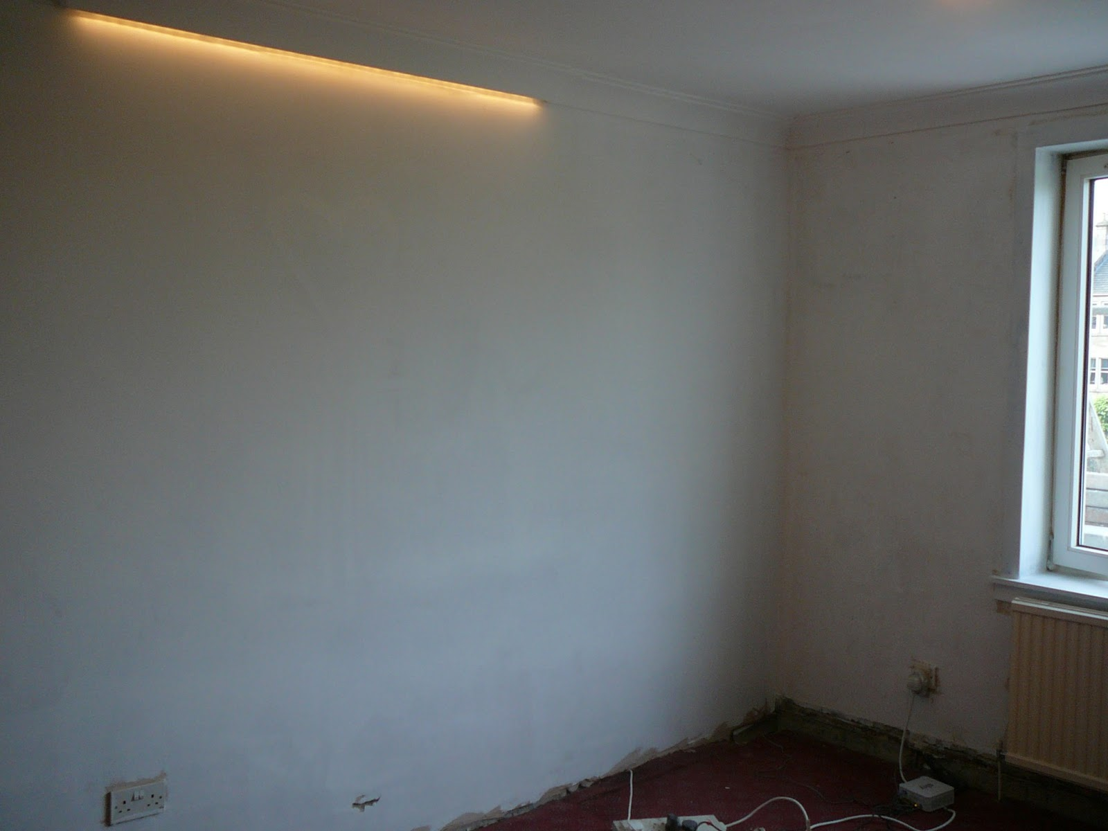 Dae it yersel living room feature wall for Living room feature wall
