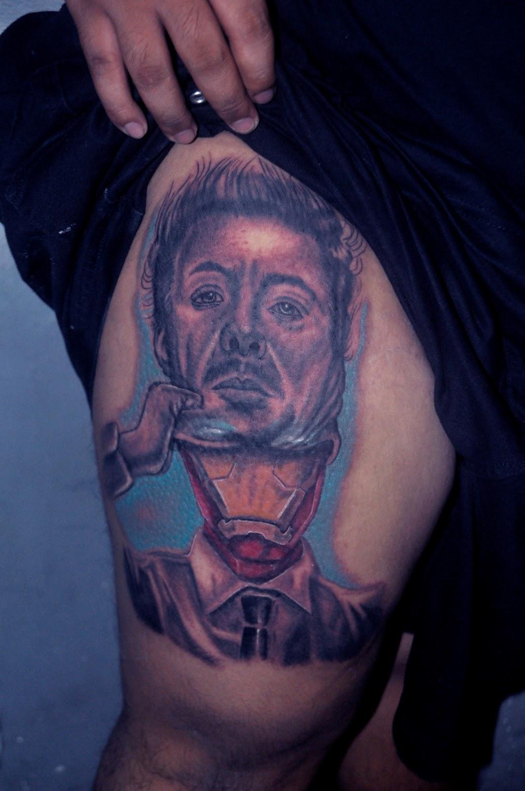 Tony stark arc reactor tattoo