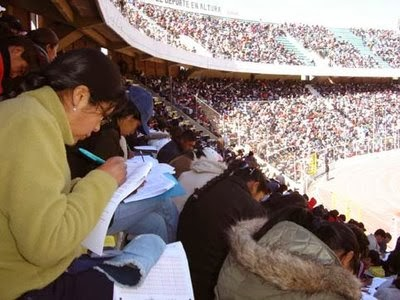 Resultados Examen: Resultados Examen de Ascenso 2013 BOLIVIA