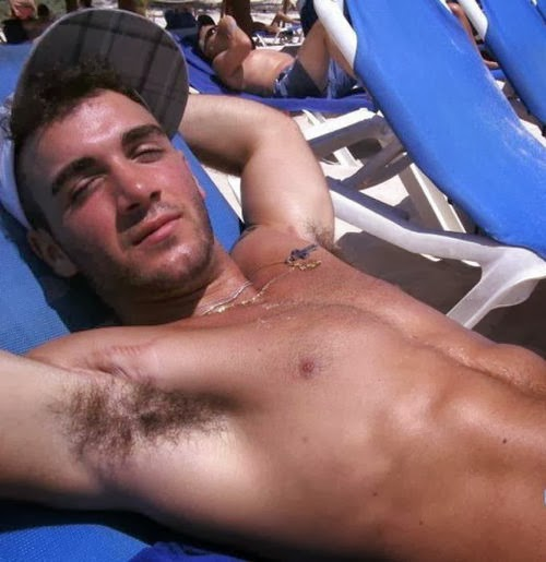 Man Sunbathing Hairy Armpits