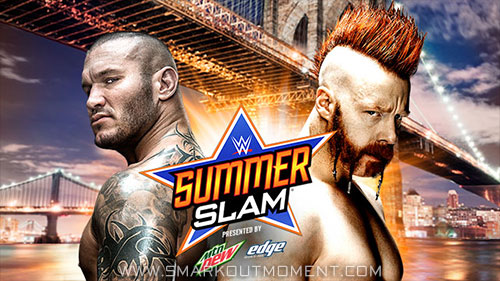 WWE SummerSlam 2015 Money in the Bank Sheamus vs Randy Orton