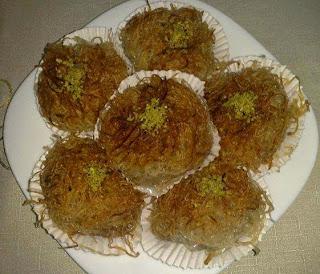 Recette des nids de Kadaîfs à la pistache