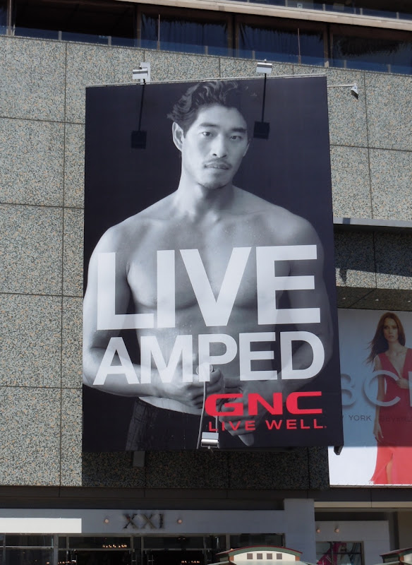 GNC Live Amped billboard