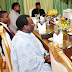 President Goodluck Jonathan broke the Lenten fast with some Christian leaders at the state house in Abuja