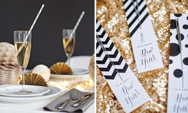 new year inspiration, new year decoration, new year table setting via http://www.scandinavianlovesong.com/