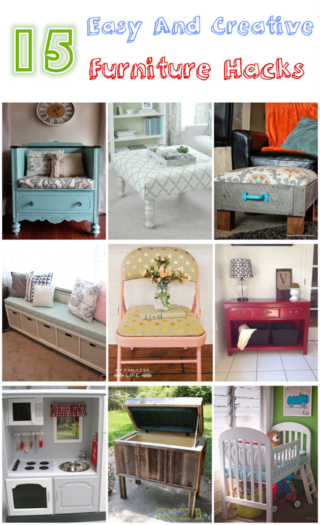 15 Easy And Creative DIY Furniture Hacks