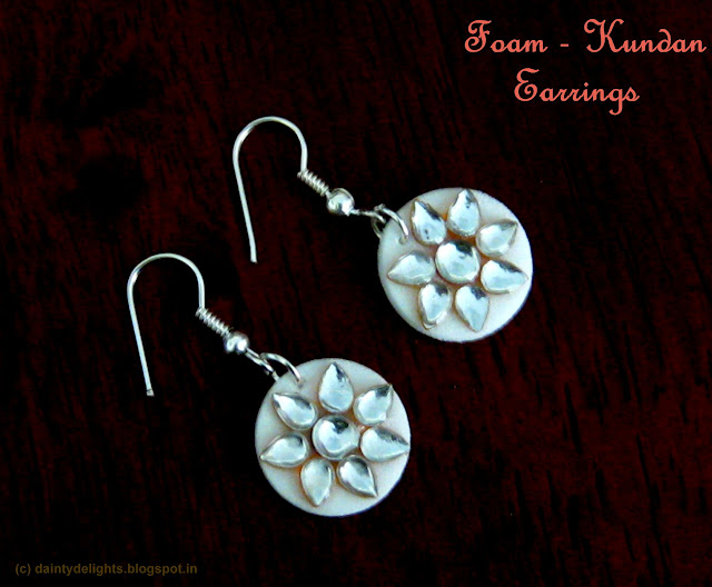 Foam - kundan earrings