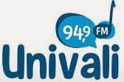 ouvir a Rádio Univali FM 94,9 Itajaí SC