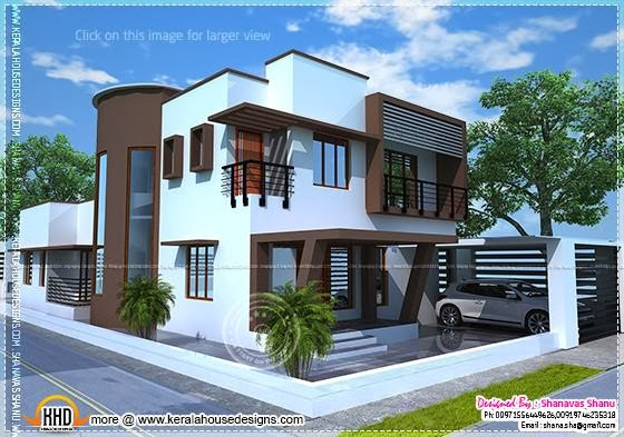 Beautiful contemporary home plan kerala home design and for 5 cent home plans