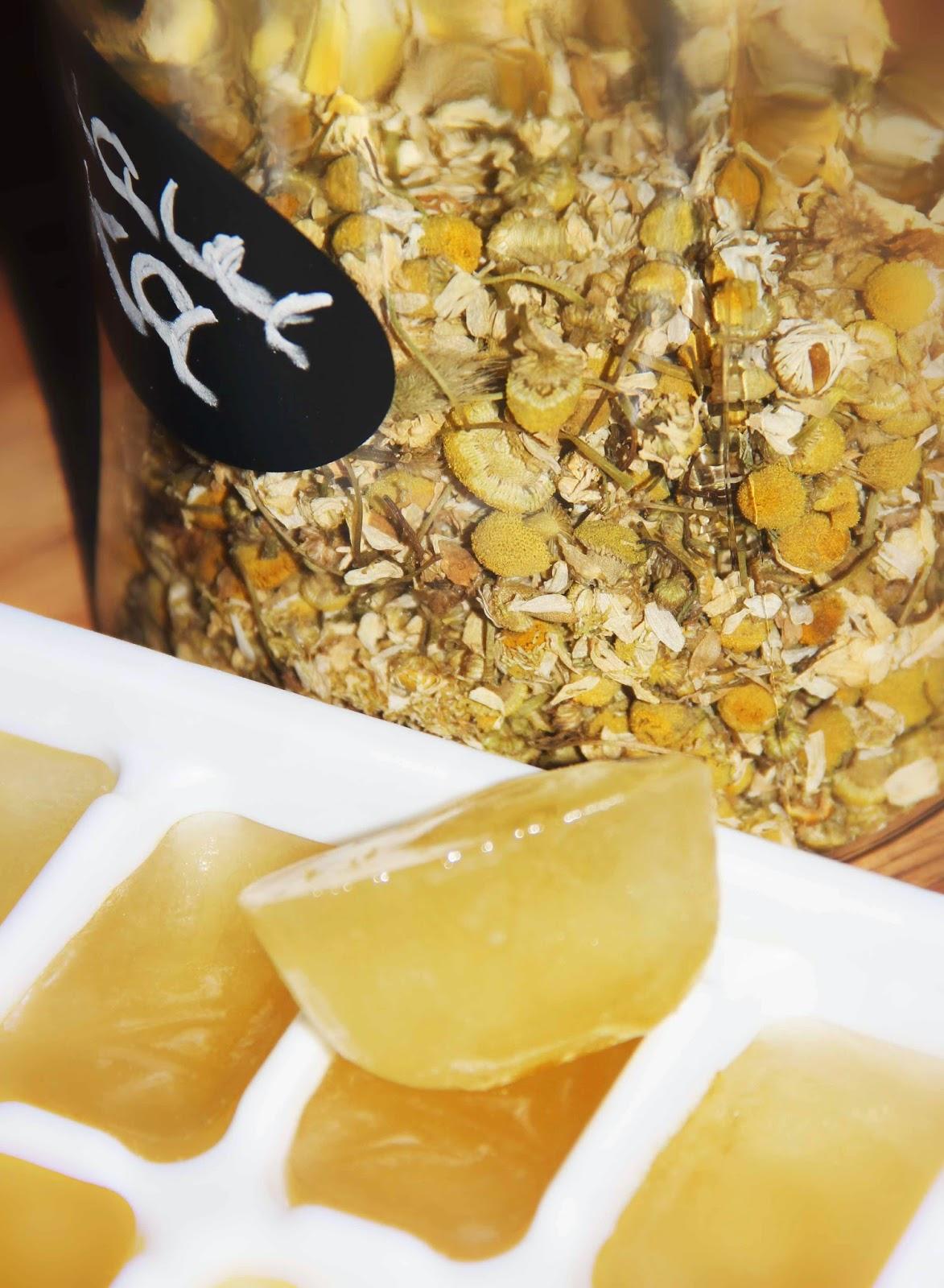 chamomile ice cubes