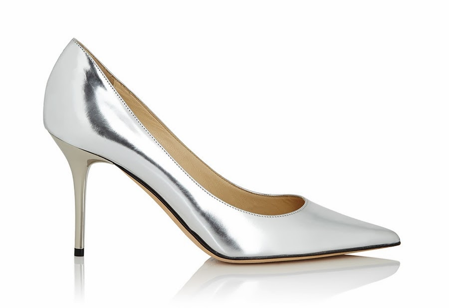 Jimmy Choo Agnes Silver Leather Heels