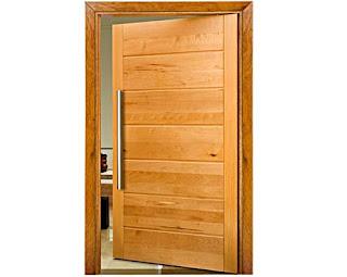 Fotos portas de madeira modernas