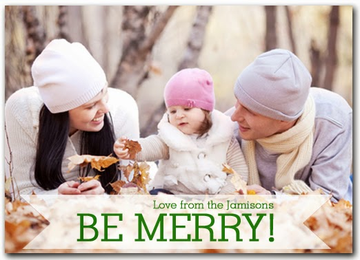 Be Merry Holiday Photo Cards from Announcingit.com