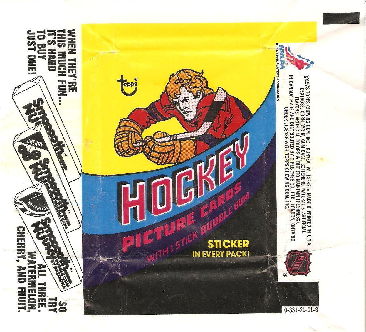 the fleer sticker project 1978 79 topps hockey stickers