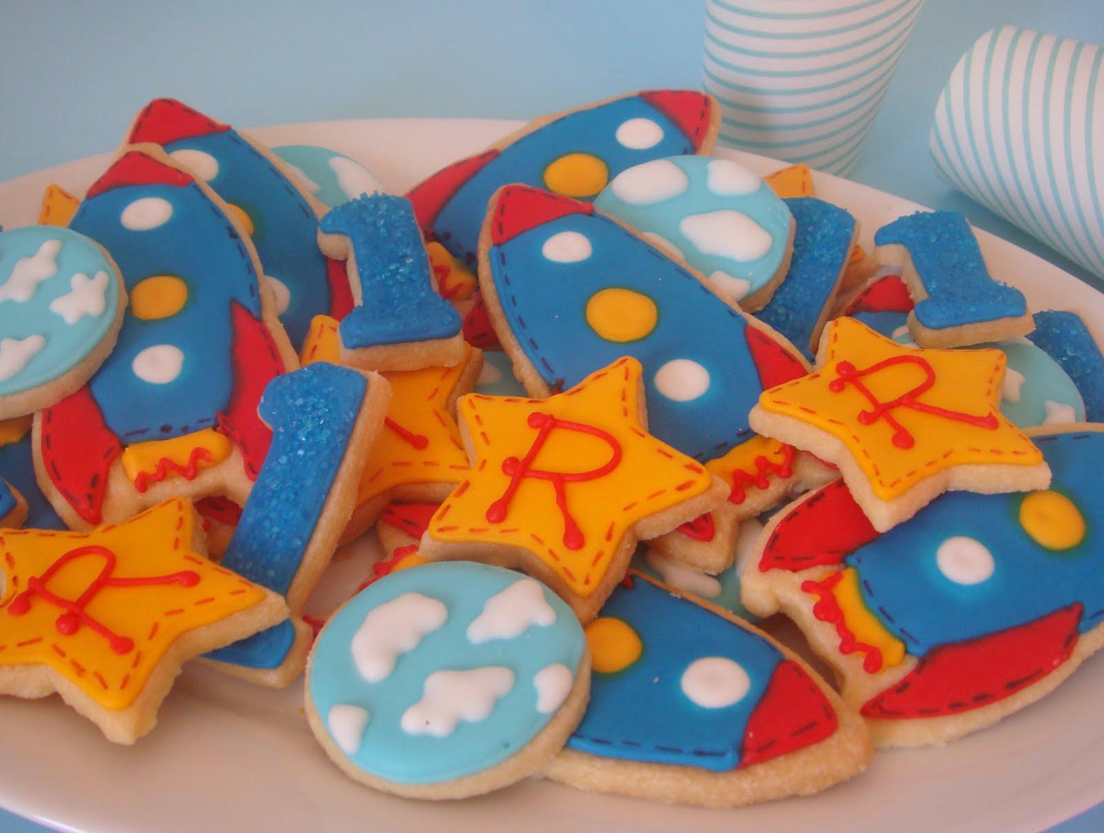 butter hearts sugar Rocket Ship Cookies