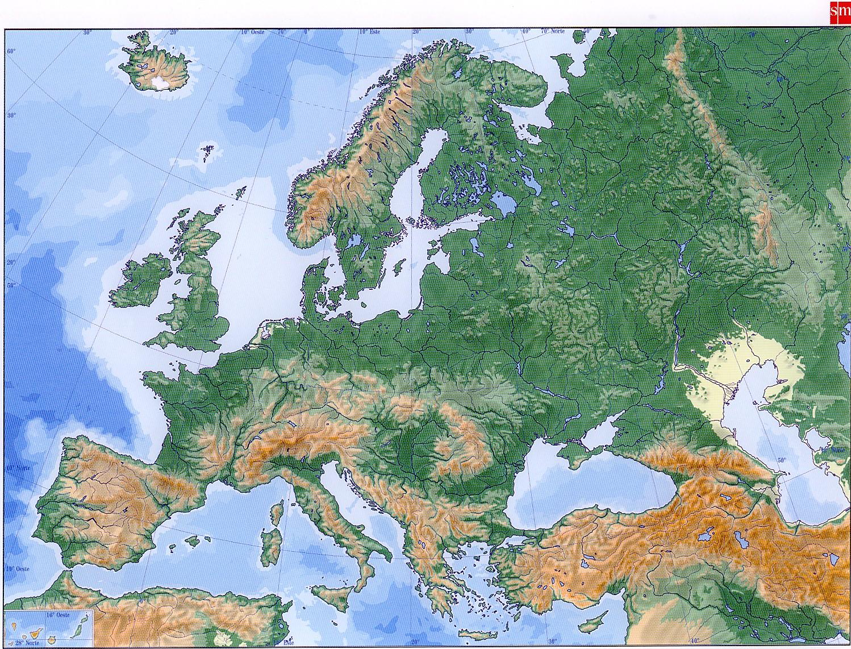 Worksheet. Mapa fsico de Europa  ThingLink