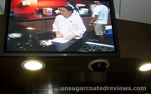 TV screen at the Center for Culinary Arts (CCA)-Manila USDA Theater