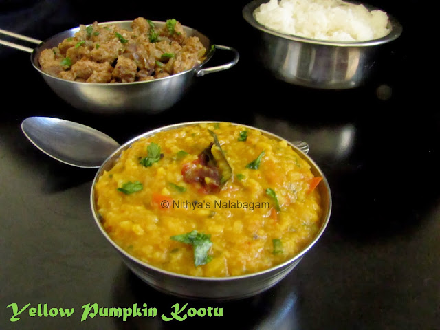 Yellow Pumpkin Kootu