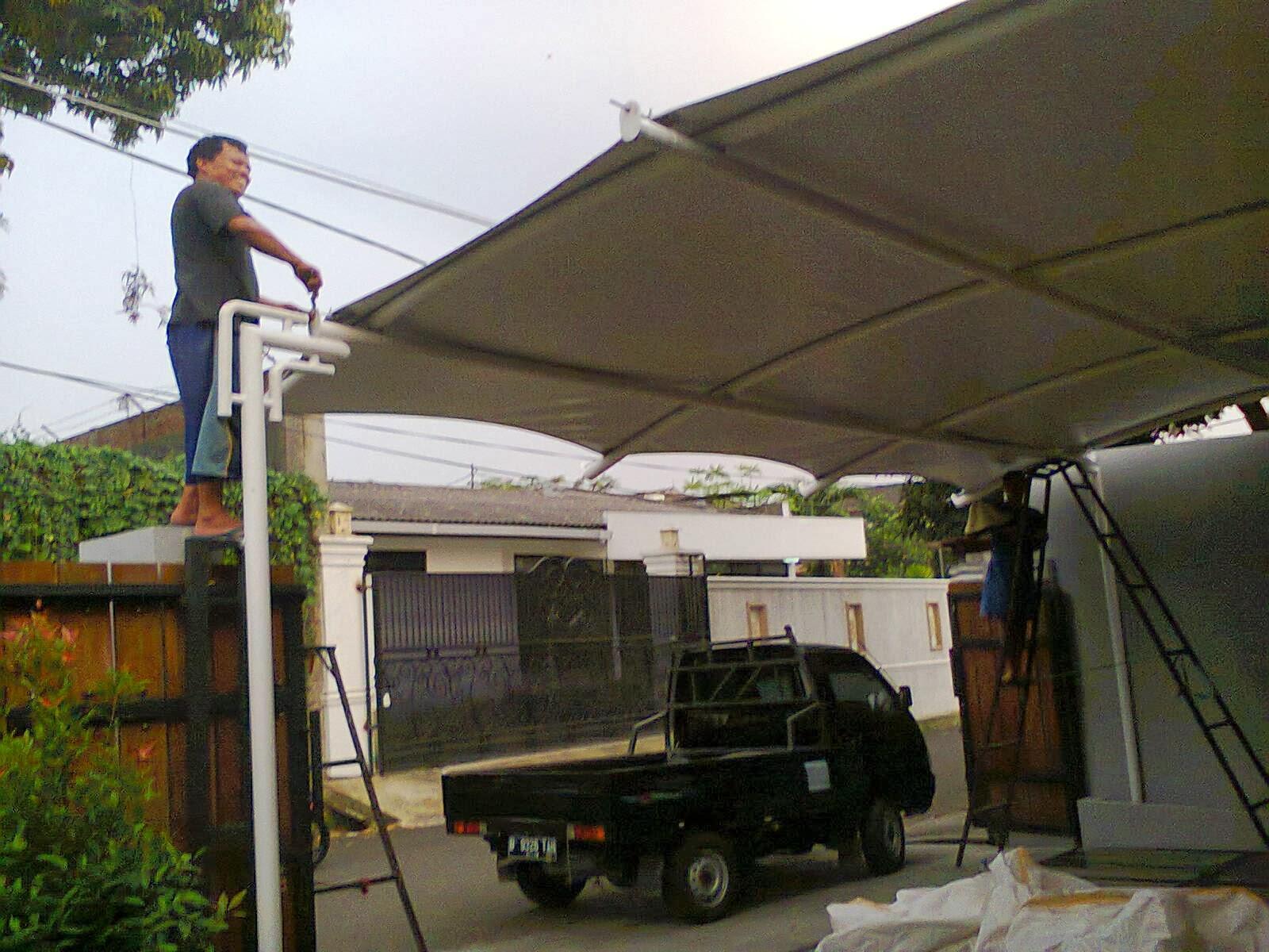 canopy rumah bahan membrane