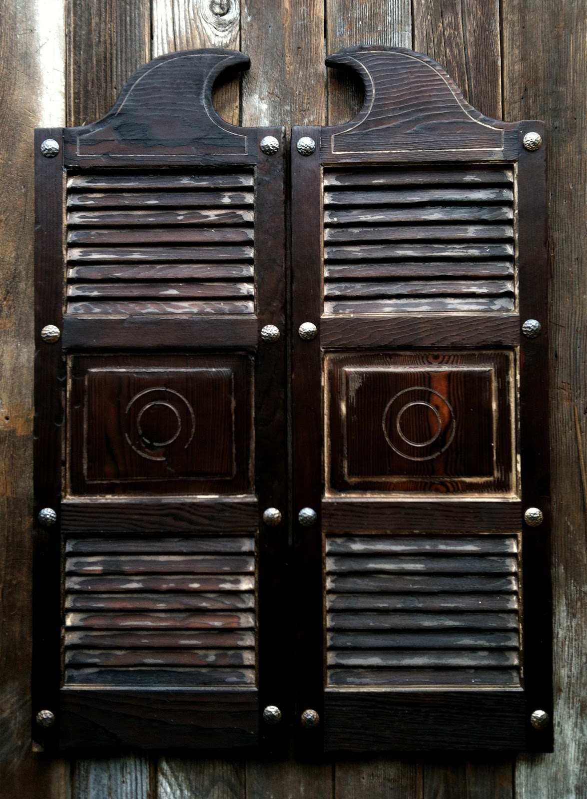 - Old West Aged Swinging Saloon Doors