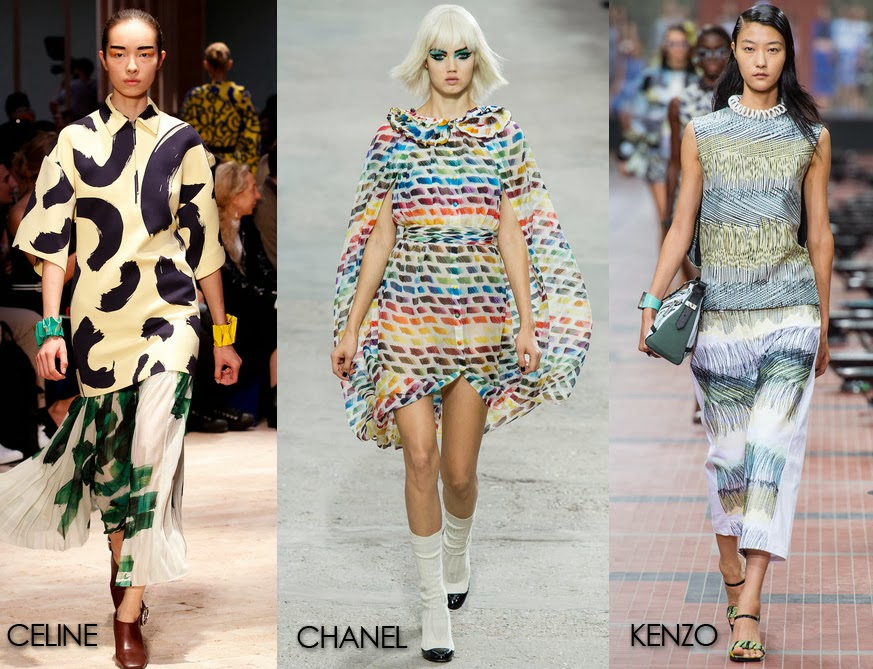 Inspected Trend: Brush Strokes Print by Celine, Chanel and Kenzo from Spring '14
